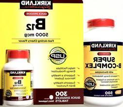 Kirkland Signature Super B-Complex Electrolytes or B-12 5000