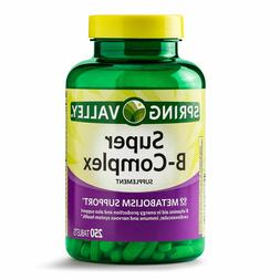 Spring Valley Super B-Complex, Metabolism Support, 250 Table