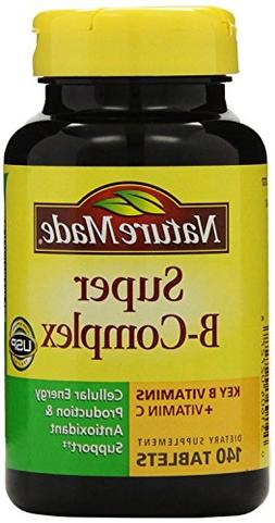 Nature Made Super B Complex Tablets, 140 Count Pack of 12