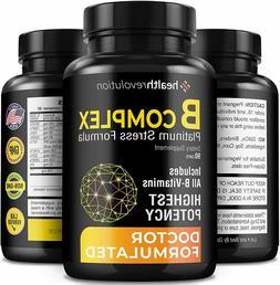 Super B Complex Vitamins - All B Vitamins Including B12, B1,