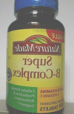nature made super B complex with vit C 160 tablets convert f