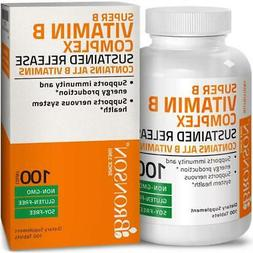Bronson Super B Vitamin B Complex Sustained Slow Release (Vi