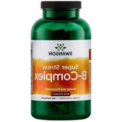 Swanson Super Stress B-Complex with Vitamin C - 240 Caps