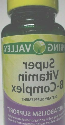 Spring Valley super vitamin B-complex metabolism support 100