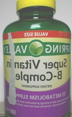 Spring Valley super vitamin B-complex metabolism support 500