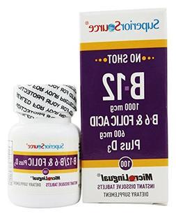 Superior Source: B-12 1,000 mcg / B-6 / Folic / Vitamin D 1,
