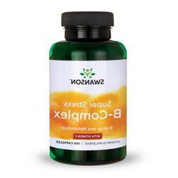 Swanson Super Stress B-Complex with Vitamin C Capsules, 100