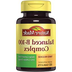 Nature Made Balanced B-100 Timed Release  Tablets 60 Ct
