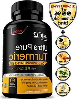 Turmeric Curcumin Supplement 19X Stronger -1500 mg of 95% Cu
