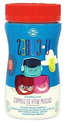 U-Cubes Children's Calcium with D3 Gummies Solgar 60 Gummy
