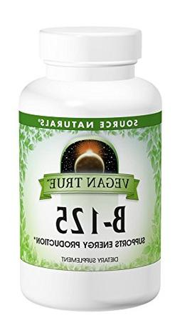 SOURCE NATURALS Vegan True B 125 Mg Tablet, 60 Count