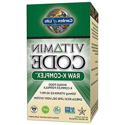 Garden of Life Vitamin K - Vitamin Code Raw K Complex Whole