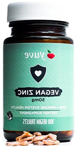 Yuve Vegan Natural Zinc Supplement - Boosts Your Immune Syst
