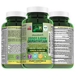 Vegan, Halal, Natural Whole Food Multivitamin Plus Minerals: