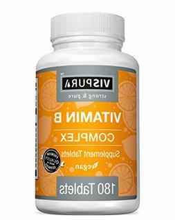 VISPURA Vitamin B-Complex with B1, B2, B3, B5, B6, B12, B7 B