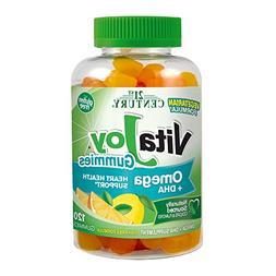 21st Century Vitajoy Omega Plus DHA Gummies, Orange, Lemon a