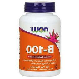 Vitamin B-100 Complex - 100 Vegetarian Capsules by NOW Foods