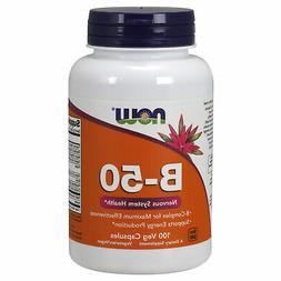 Vitamin B-50 Complex 100 Vcaps vitamin B1,B2,B3,B5,B6,B12 Bi