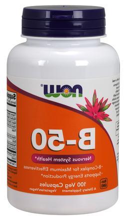 Now Foods Vitamin B-50 Complex, 100 Vegetarian Capsules