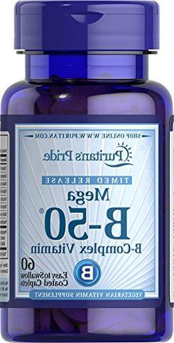 Puritan's Pride Vitamin B-50 Complex Timed Release-60 Caplet