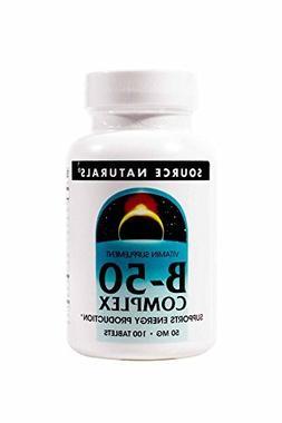 Source Naturals Vitamin B-50 Complex 50mg Supports Energy Pr