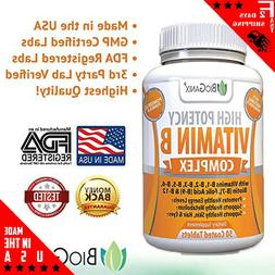 Vitamin B Complex Supplement Made in the USA | With Vitamin