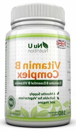 Vitamin B Complex 180 tablets B1, B2, B3, B5, B6, B12, D-Bio