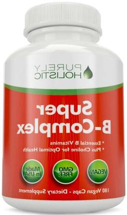 Vitamin B Complex - 8 Super B Vits 180 Capsules with Choline