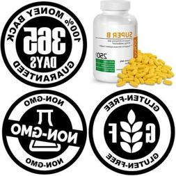 Bronson Vitamin B Complex B1 B2 B3 B6 B9 Folic Acid B12 250