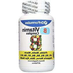 DrFormulas Vitamin B Complex with B1, B2, B3, B6, B12, Folat
