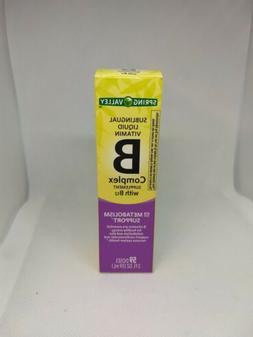 Spring Valley Vitamin B-Complex Sublingual Liquid With  B-12
