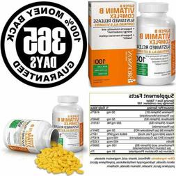 Vitamin B Complex Sustained Slow Release B1 B2 B3 B6 B9 Foli