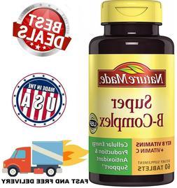 VITAMIN B COMPLEX Vitamin C B1 B2 B3 B6 Folic Acid B12 Boost
