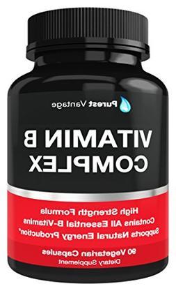 Vitamin B Complex Vitamins B12, B1, B2, B3, B5, B6, B7, B9,