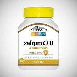 21st Century Vitamin B Complex with Vitamin C - 100 Tablets