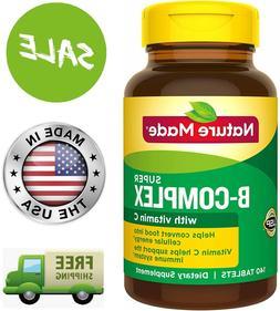 VITAMIN B COMPLEX with Vitamin C B1 B2 B3 B6 Folic Acid B12