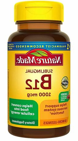 Nature Made Vitamin B-12 1000 MCG Sublingual Supplement, 50