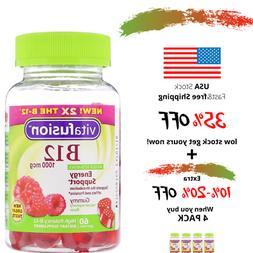 Vitafusion Vitamin B-12 1000 mcg Supplement, 60 Count