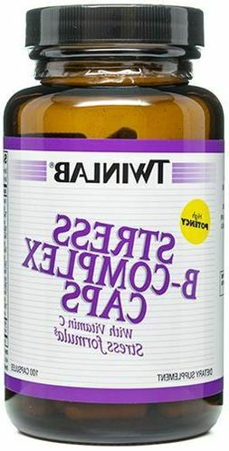 TwinLab Vitamin B Stress B-Complex 100 capsules.