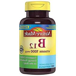 Nature Made Vitamin B12 1000 mcg. Softgels Value Size