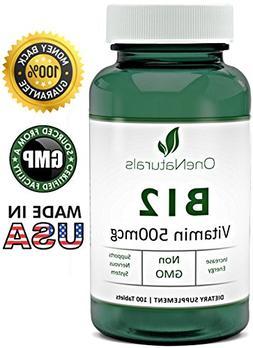 OneNaturals Vitamin B12 Cyanocobalamin Supplement  Chewable,