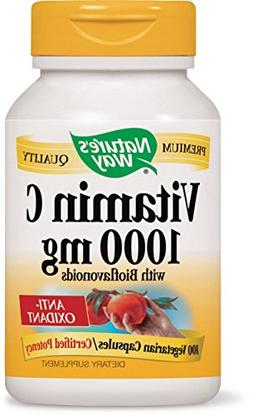 Nature's Way Vitamin C 1000 with Bioflavonoids, 100 Vcaps-4p