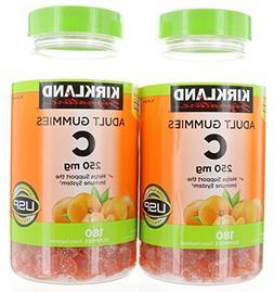 Kirkland Signature Vitamin C 250 mg 360 Adult Gummies 2 x 18