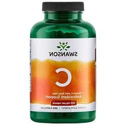 Swanson Vitamin C with Rose Hips 500 Milligrams 400 Capsules