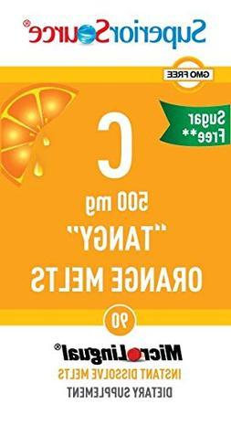 Superior Source Vitamin C Multivitamins, Tangy Orange Melts,