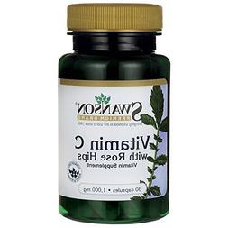 Swanson Vitamin C with Rose Hips 1000 Milligrams 30 Capsules