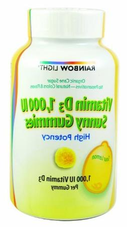 Rainbow Light Vitamin D Sunny Gummies Sour Lemon - 1000 IU -