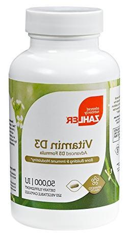 Zahler Vitamin D3 50,000IU, An All-Natural Supplement Suppor