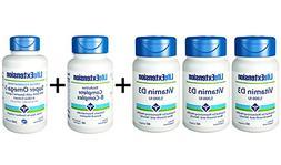 Life Extension Vitamin D3 5000 IU 60 softgels  + Super Omega