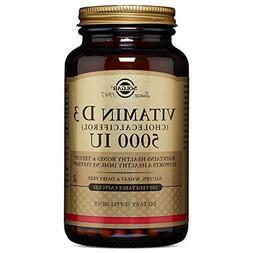 Solgar - Vitamin D3  5,000 IU 240 Vegetable Capsules